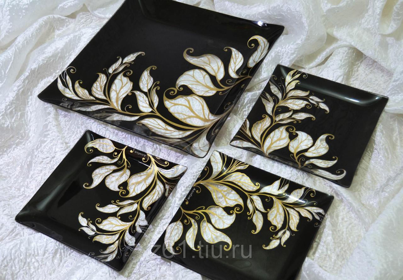 Сбор заказов. Красивые подарочные наборы тарелок из стекла с декоративным покрытием Acrofam (Пр-во Иран). Готовим