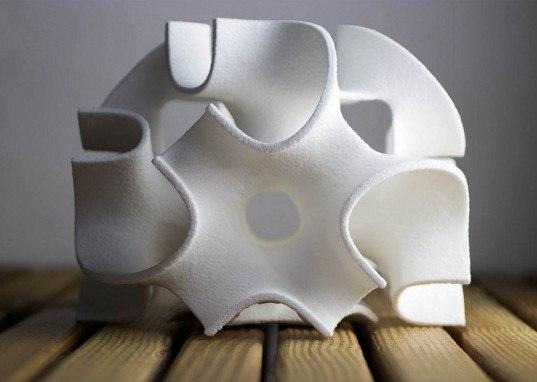 Геометрические скульптуры из сахара
