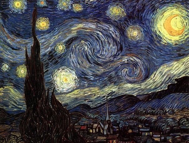 Математики, исследовавшие картины Ван Гога, пришли к выводу, что завихрения на некоторых его полотнах довольно точно описывают невидимые для глаза турбулентные потоки воздуха.