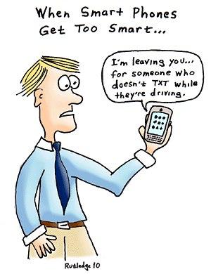Когда телефоны станут слишком умными : Я ухожу от тебя...к тому, кто не пишет сообщения, находясь за рулем