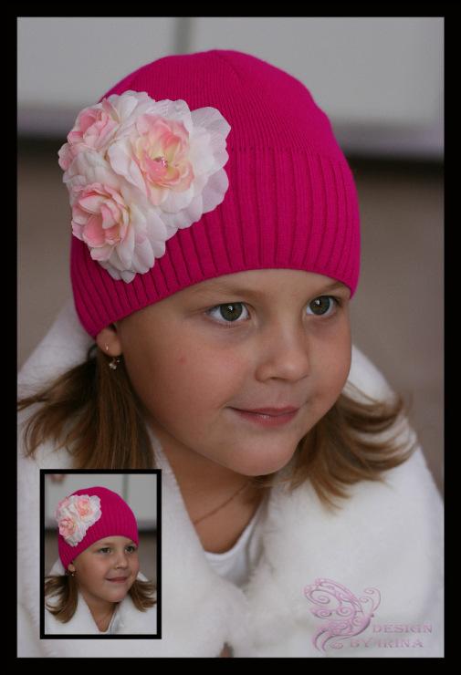 Сбор заказов. По просьбам участников! Ваша дочка не останется без внимания-11! Шапочки и повязки с цветами для дочки и мамы! Зимние шапки с помпонами из меха!Море новинок! А также модные шапочки для мальчиков!! Галерея.
