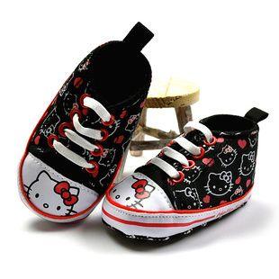 Первые кеды для маленькой модницы от Хэллоу Китти.