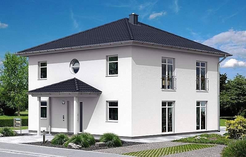 Постройка квадратного дома с двумя этажами