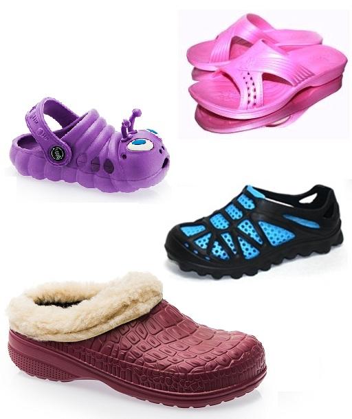 Обувная компания ЕVА-SН0ЕS предлагает: сланцы, садовая обувь, кеды, сапоги для взрослых и детей