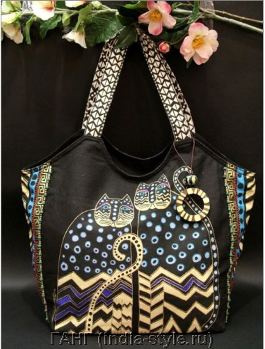 Те самые полюбившиеся хлопковые сумки с кошками, сумки-рюкзаки, кросс-боди, пляжные сумки, брелки, кошельки. А так же шикарные платки, украшения и многое другое от India-style. Огромный ассортимент! Выкуп 2/15.