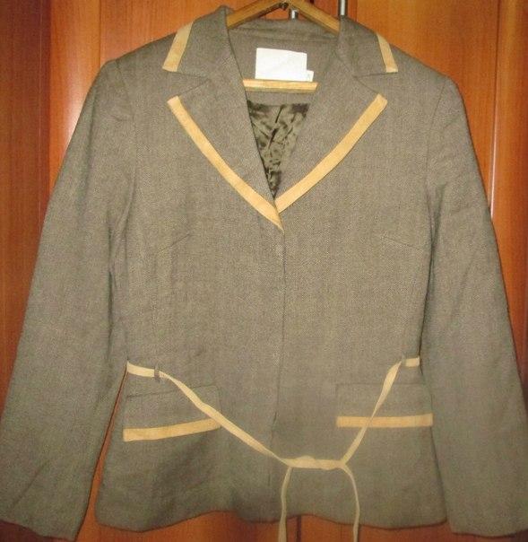 пиджак шерстяной тепленький 42-44