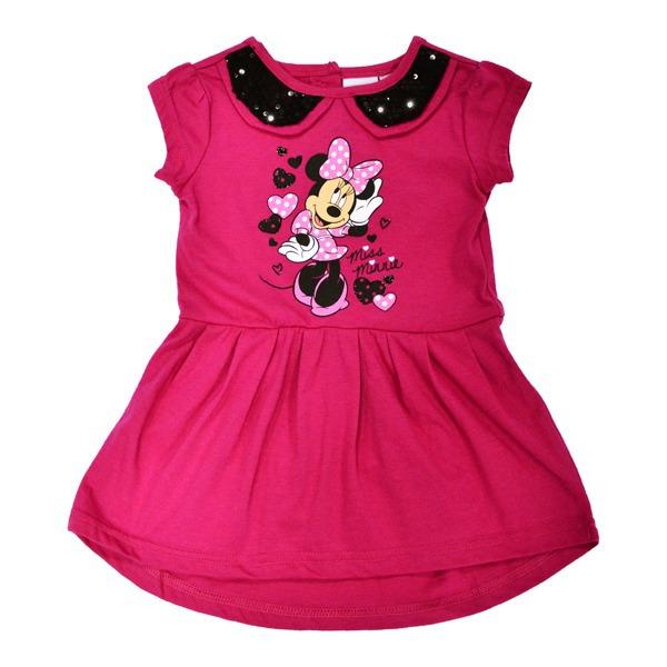 Простое и одновременно нарядное платье с изображением чудесной Минни Маус станет базовой вещью в гардеробе очаровательной крохи.