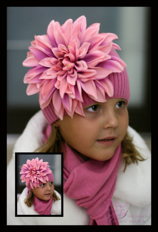Сбор заказов. По просьбам участников! Ваша дочка не останется без внимания-11! Шапочки и повязки с цветами для дочки и мамы! Зимние шапки с помпонами из меха!Море новинок! А также модные шапочки для мальчиков!! Галерея.Стоп 19 марта в 8.00