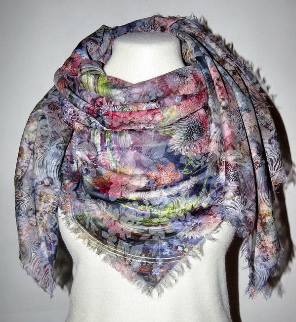 Необыкновенные 2х сторонние платки из хлопка и льна, палантины, винтажные и французские косынки. Выкуп 30