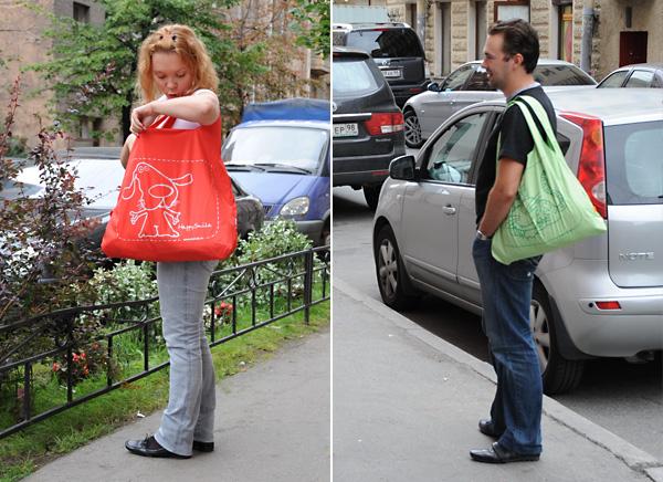 Эко-сумки H@ppy smile - 25 кг подмышкой