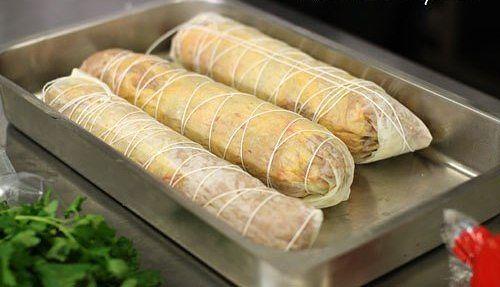 Замена колбасе - куриный рулет