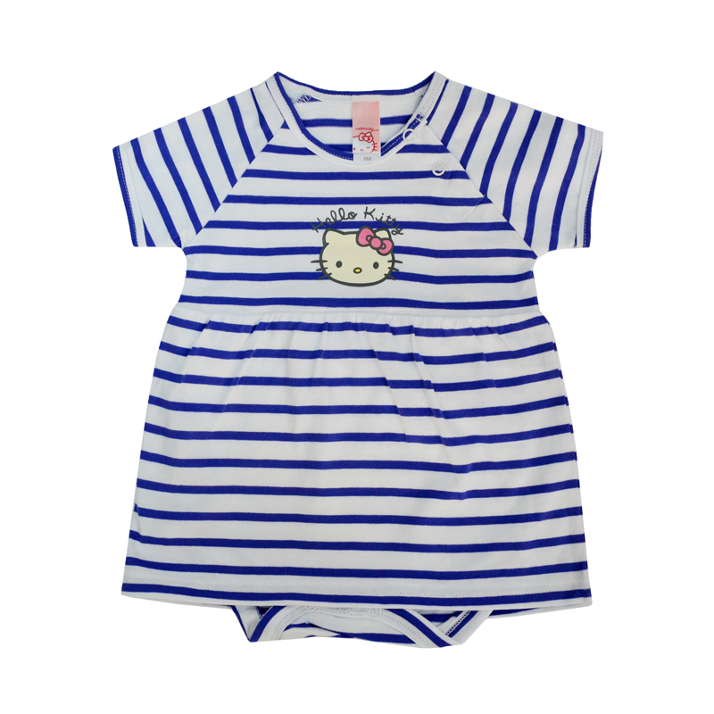 Платье-боди является идеальным вариантом одежды для малышки в течение первых месяцев жизни.