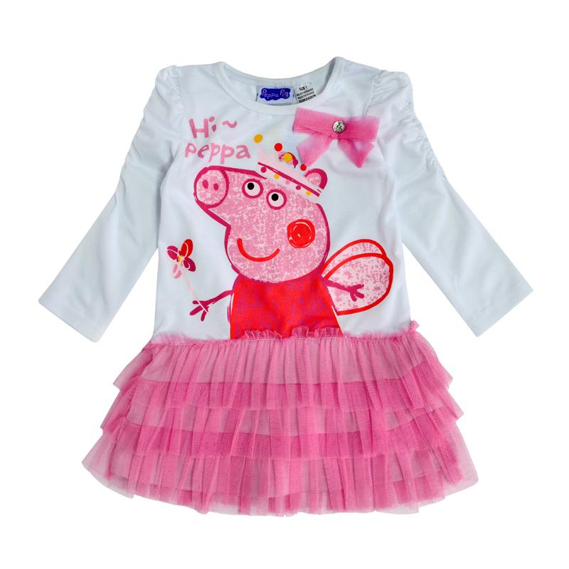 Красивое платье с длинным рукавом и пышной юбкой украсит любую девочку.