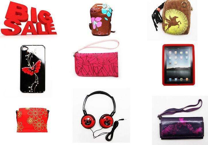 SuperSale аксессуаров от 32 руб.-2! Сумочки, ключницы, наушники, кабели, держатели, з/у, чехлы для фотоаппаратов, iPad, iPhone и др.