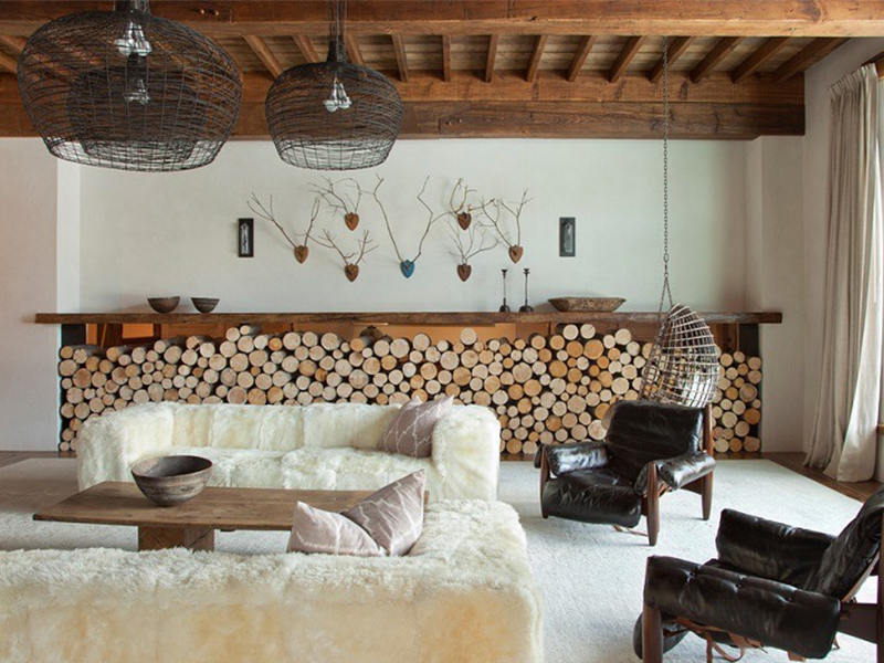 Использование деревянного спила в дизайне интерьера