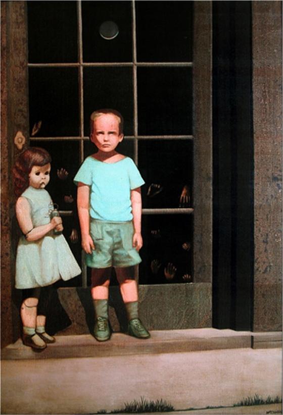 Картину нарисовал Билл Стоунхэм. Скандал начался после одной из выставок. Психически неуравновешенным людям