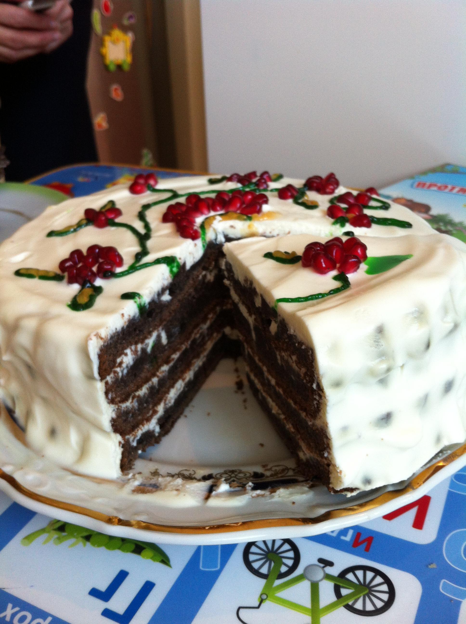 Торт из черемуховой муки. Мой маленький фотоотчет))