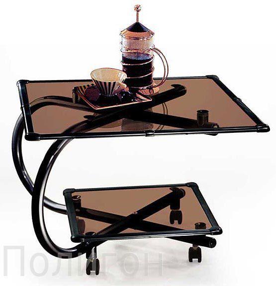 Сбор заказов. Мебель из стекла и металла. Столы - журнальные, сервировочные или обеденные, подставки или стойки для аудио-видео техники и стеллажи - 4