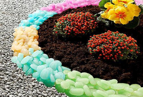 Сбор заказов Цветная мраморная (в т.ч. и люминисцентная (светящаяся)) крошка-камушки, натуральный белый и зелёный мох для декорирования цветников, альпийских горок, садовых дорожек