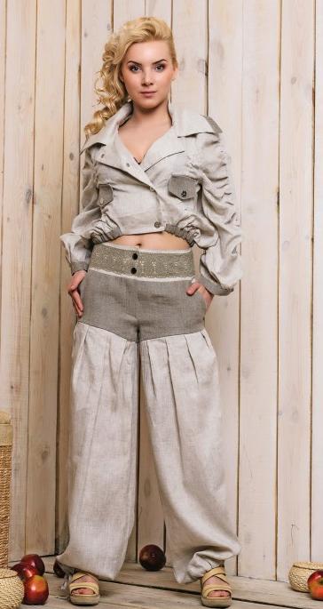 Дизайнерская одежда из льна и трикотажа Bazahi