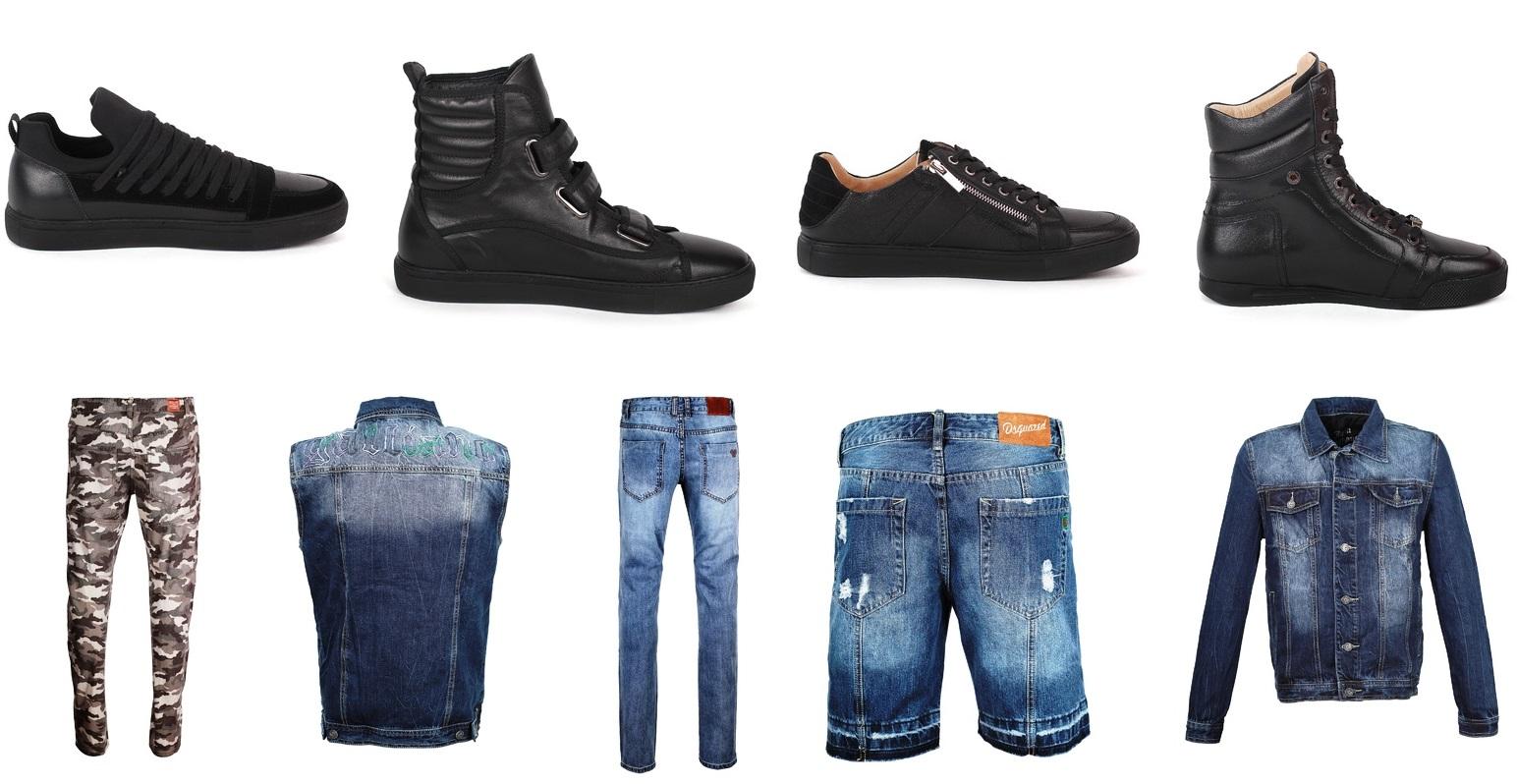 Брендовая мужская одежда и обувь - джинсы, шорты, футболки, куртки.
