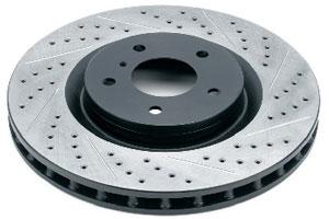 Тормозные диски Rotora с насечками и перфорацией