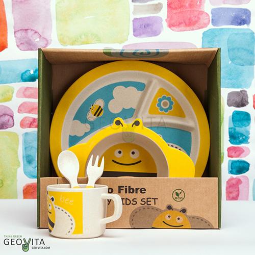 Детская посуда из БАМБУКА! Экологично, красиво, ярко