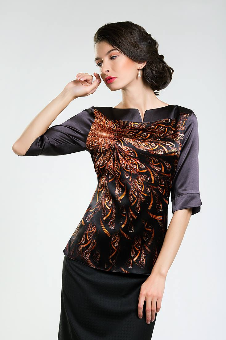 Великолепие шелка. Самые стильные блузки для деловых женщин.