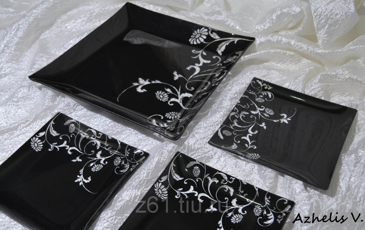 Сбор заказов. Красивые подарочные наборы тарелок из стекла с декоративным покрытием Acrofam (Пр-во Иран). Теперь и