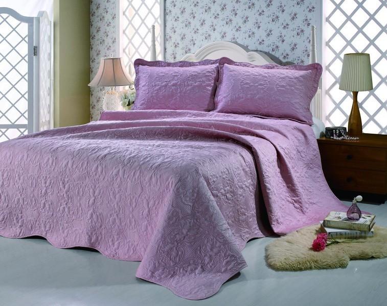 Распродажа Покрывало из сатина розовое (3060 рублей) и Постельное белье сатин с эффектом 3Д (2160 рублей) без ОРГ %