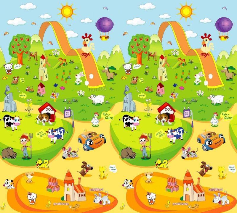 Уникальные двусторонние теплые развивающие коврики для детей! Сотни идей, миллионы преимуществ.--Выкуп 10.