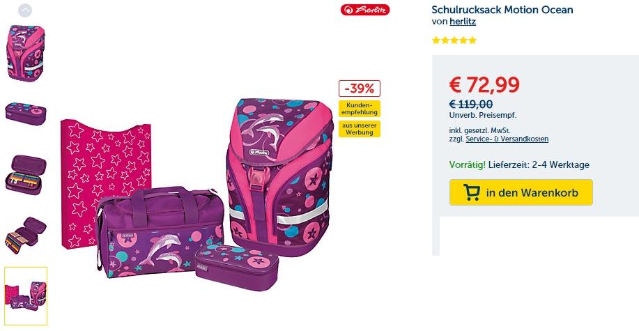 Удобные и яркие рюкзаки для школы от herlitz