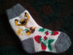 Теплущие носки и варежки для наших деток