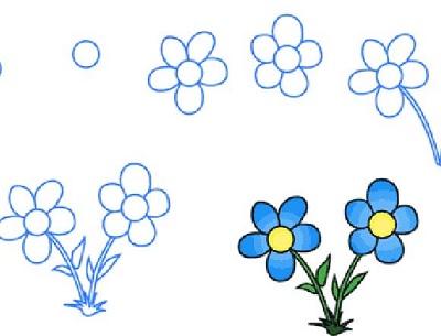 Нарисованный цветок