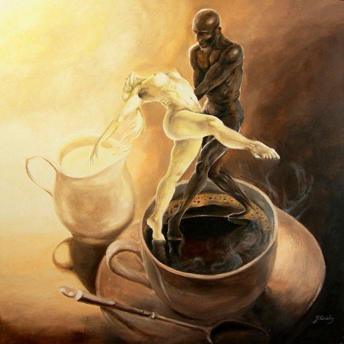 Раз фигня, два фигня... и кофе с молоком... Вот такая странная интерпретация...
