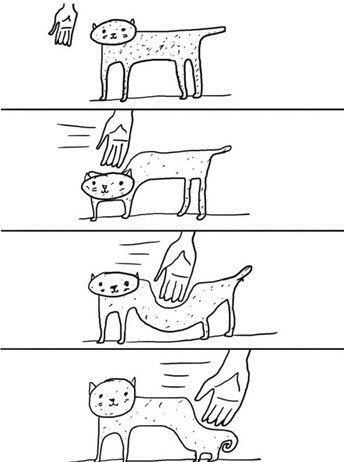 Когда пытаешься погладить кота