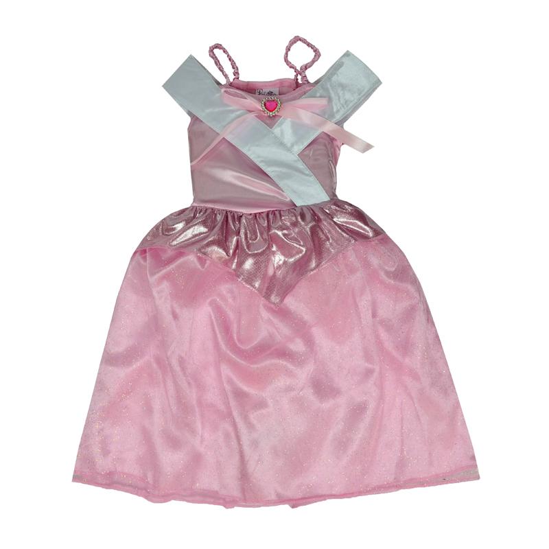 Платье для юной модницы имеет классический фасон платья для принцессы.