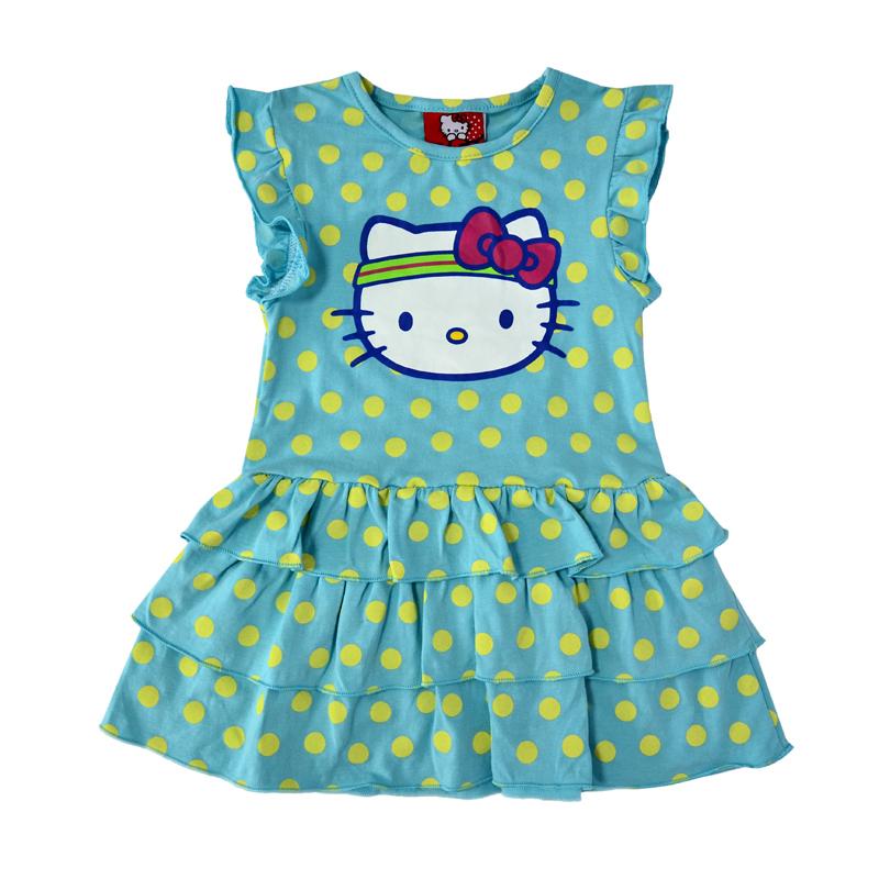Легкое, практически невесомое платье от Хэллоу Китти сделает вашу дочку настоящей маленькой модницей.
