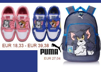 Детские товары Tom & Jerry от Puma