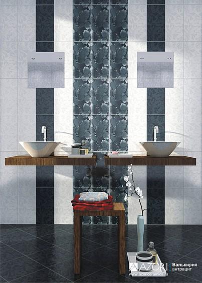 Керамическая плитка Азори Валькирия Антрацит и Кармин по низким ценам в интернет-магазине Интерьер+