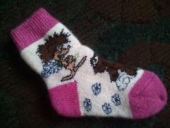 Теплые носки и варежки для детей