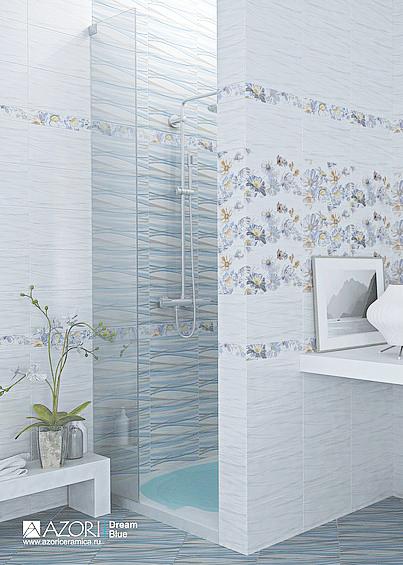 Керамическая плитка Азори Dream в интернет-магазине. На выбор голубые, бежевые и оранжевые тона.