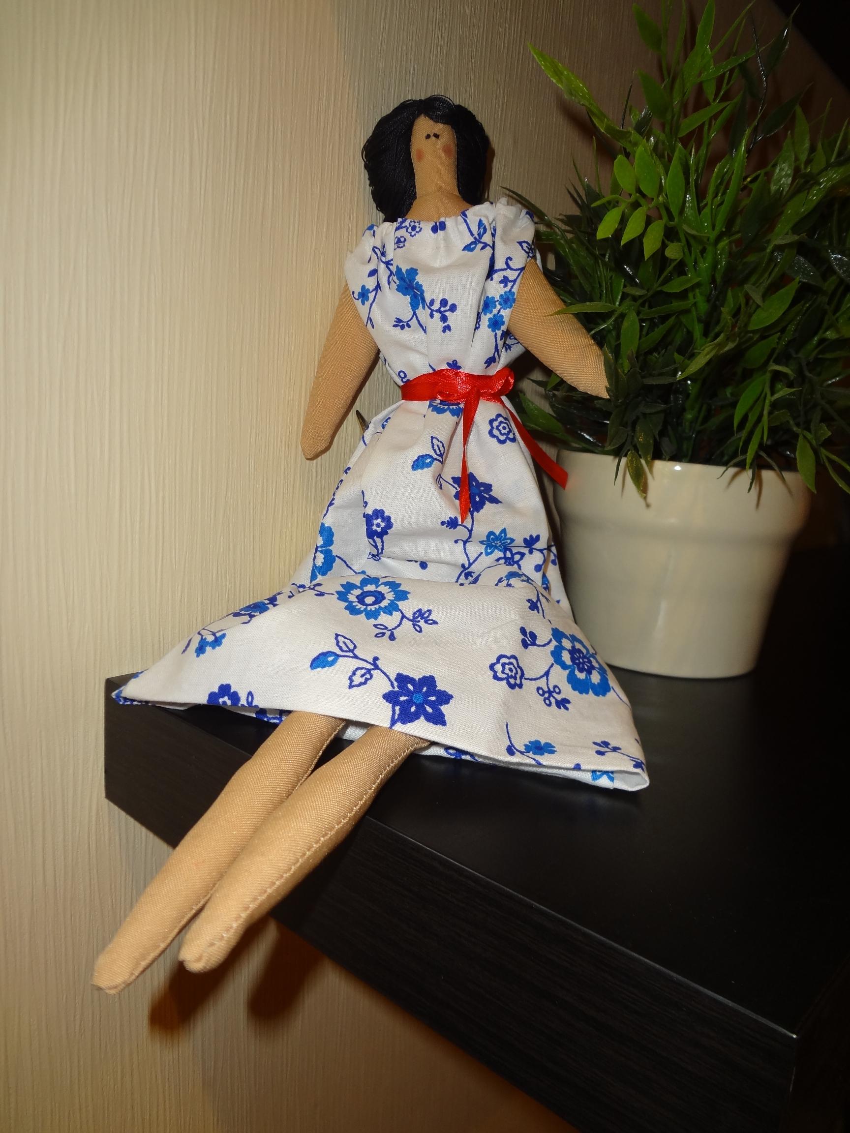 Кукла Тильда-копия. 45 см. Ноги сгибаются, сидит