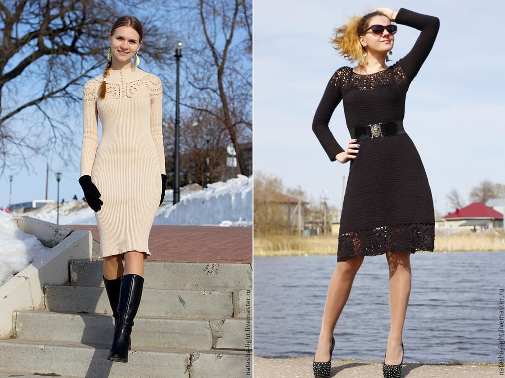 Готовые вязаные платья ручной работы по низкой цене!