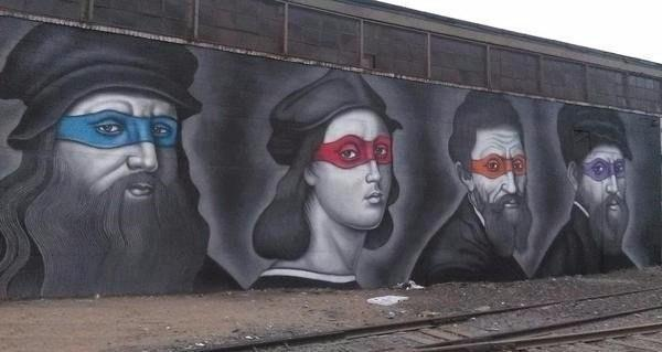 Леонардо, Рафаэль, Микеланджело и Донателло :D