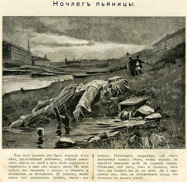 Антиалкогольная компания в газетах Российской империи