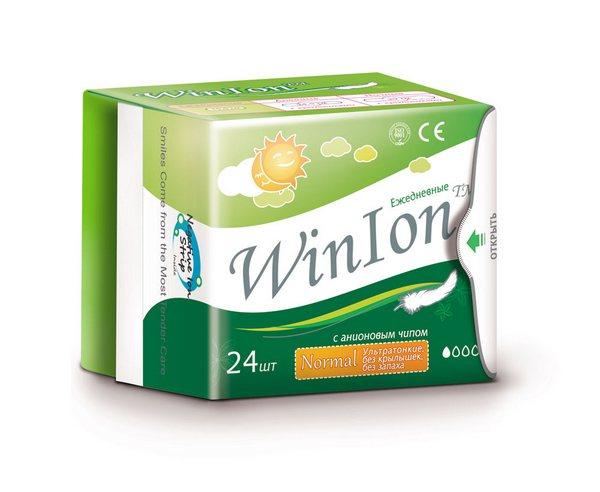 Анионовые гигиенические прокладки Winlon--превосходная впитываемость, мягкость и гигиеничность. А также зубная паста с