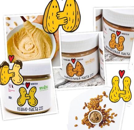 Сбор заказов. Ореховая лавка Nutbutter-2. Ореховые пасты из кешью, миндаля, арахиса, кокоса. Без добавок!! Все ЦР