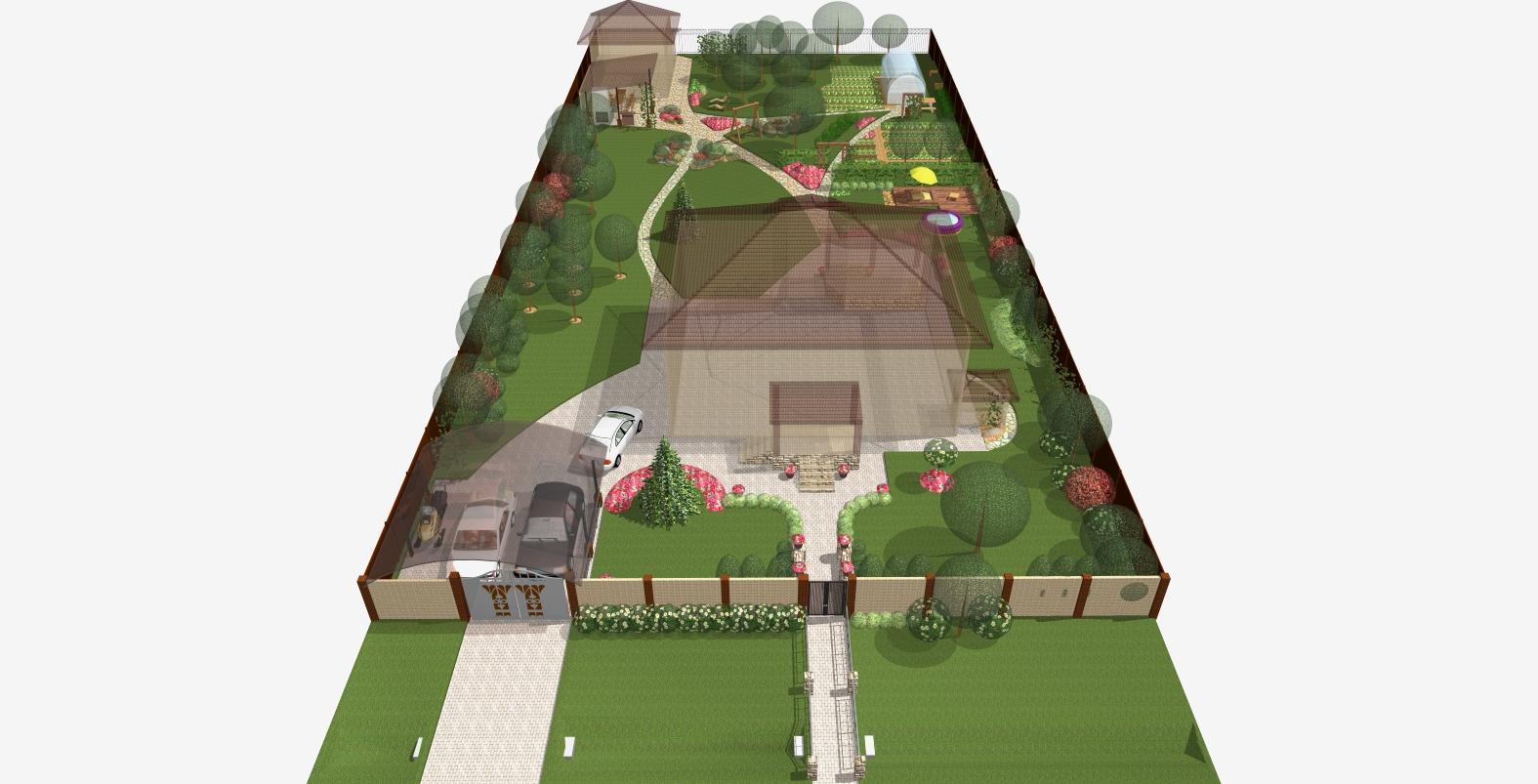 Портфолио и контакты на личном сайте - ландшафт от проекта до готового сада