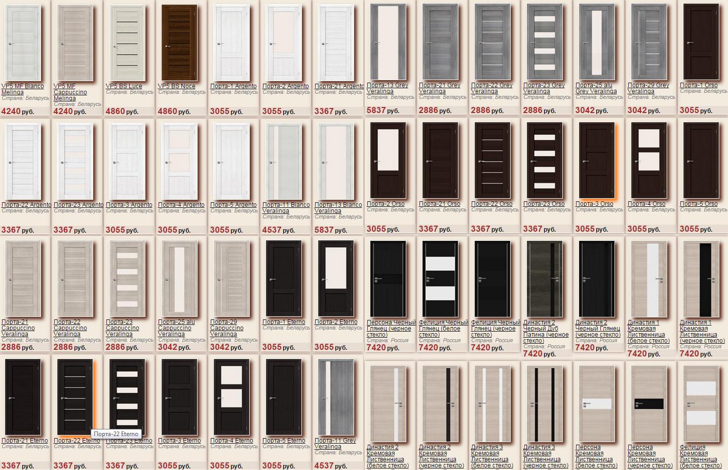 Стильные двери из экошпона, большой выбор цветов и моделей, низкие цены в интернет-магазине Интерьер+